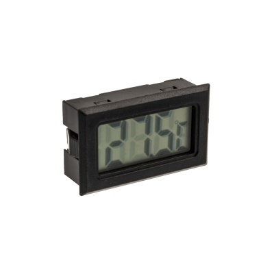 Lamptron Digital Thermometer, G1/4 Inch Connection - Black / Silver - 1