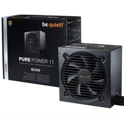 be quiet! Pure Power 11, Power Supply, 80 Plus Gold - 600 Watt - 1