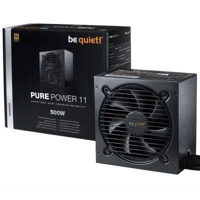be quiet! Pure Power 11, Power Supply, 80 Plus Gold - 500 Watt - 1