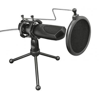 Trust Gaming GXT 232 Mantis Streaming USB Table Microphone - Black - 1