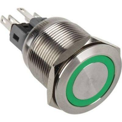DimasTech Push-Button 22mm - Silverline - Green - 1